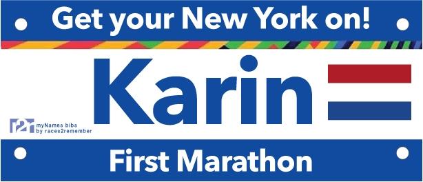 Meisjes van vijftig lopen de NYC marathon