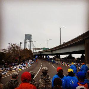 Start Verazzano bridge NYC marathon 2017 wave 4
