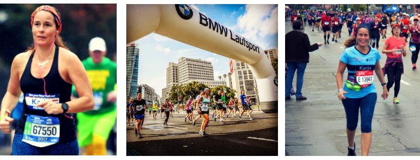 Meisje van vijftig rennen berlijn, new york en chicago